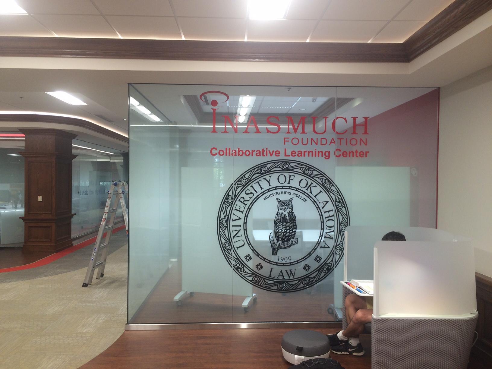 Custom Printed Decorative Film Job for the University of Oklahoma